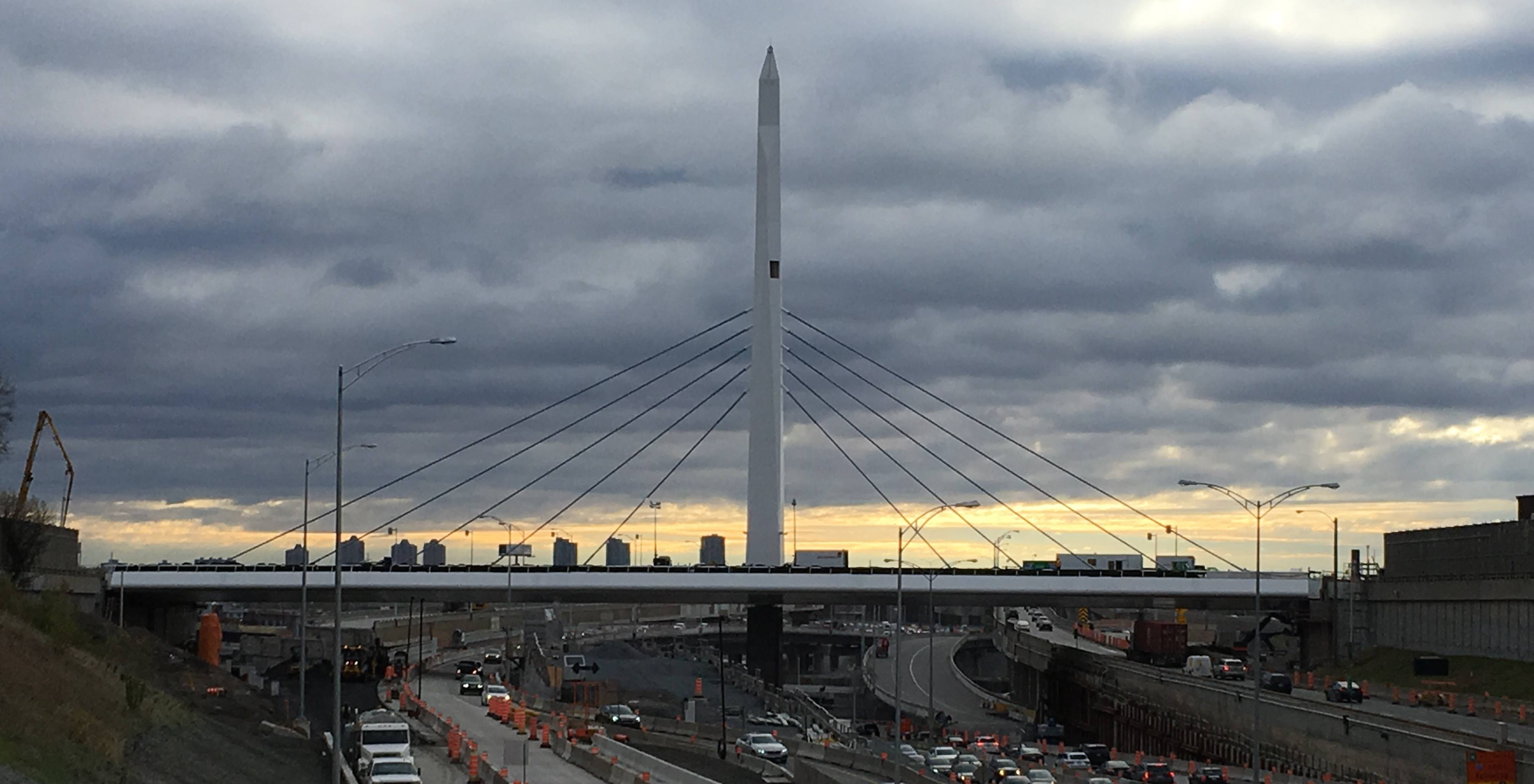 The St. Jacques Bridge in NDG is partially reopening today