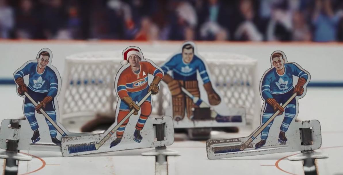 The Canadiens send holiday wishes as table top hockey players (VIDEO)