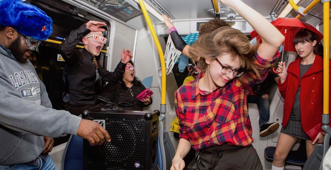 The SkyTrain is turning into a huge New Year's Eve dance party again