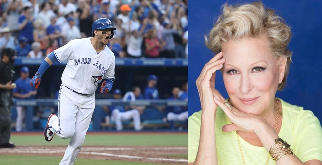 Bette Midler roasts Toronto Blue Jays management