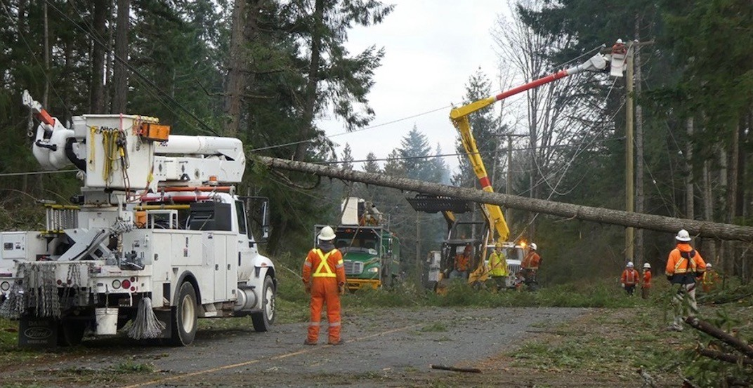 It could be New Year's Eve before power is restored to all of BC