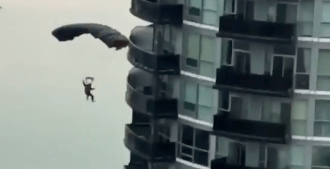 Police issue warning after Christmas BASE jump from Toronto condo tower
