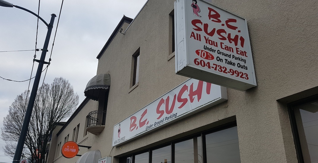 Popular AYCE sushi restaurant in Vancouver Westside closed