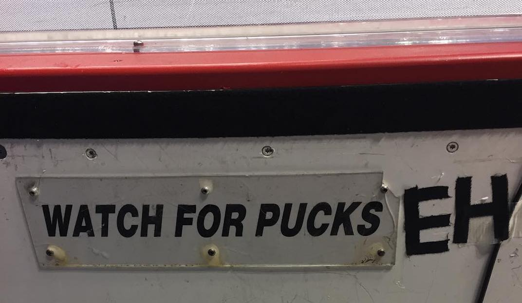 watch for pucks eh