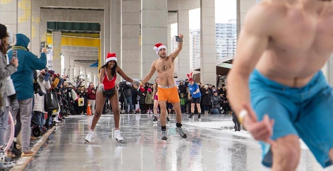 People skated in their skivvies under the Gardiner Expressway today (PHOTOS)