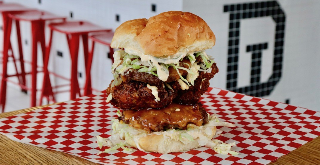 Get the mother of all burgers at Downlow Chicken New Year's Day only
