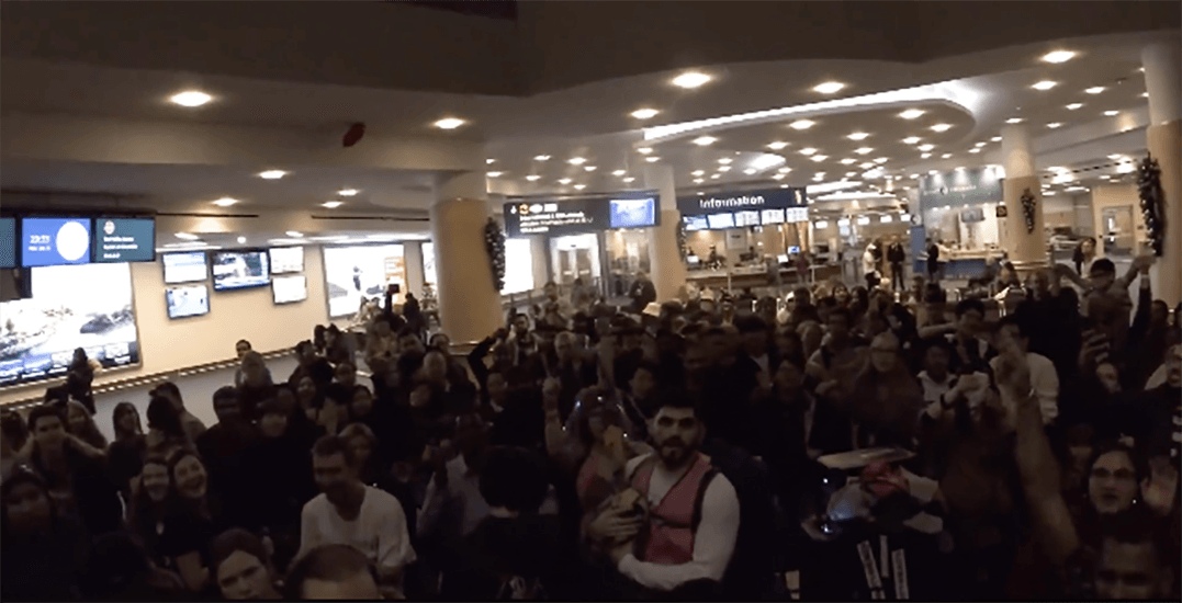 YVR Airport turned into a massive New Year's Eve dance party (VIDEO)