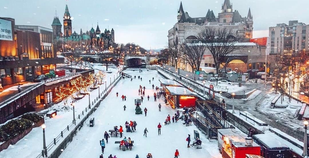 World's largest naturally frozen skating rink open for the winter (PHOTOS)
