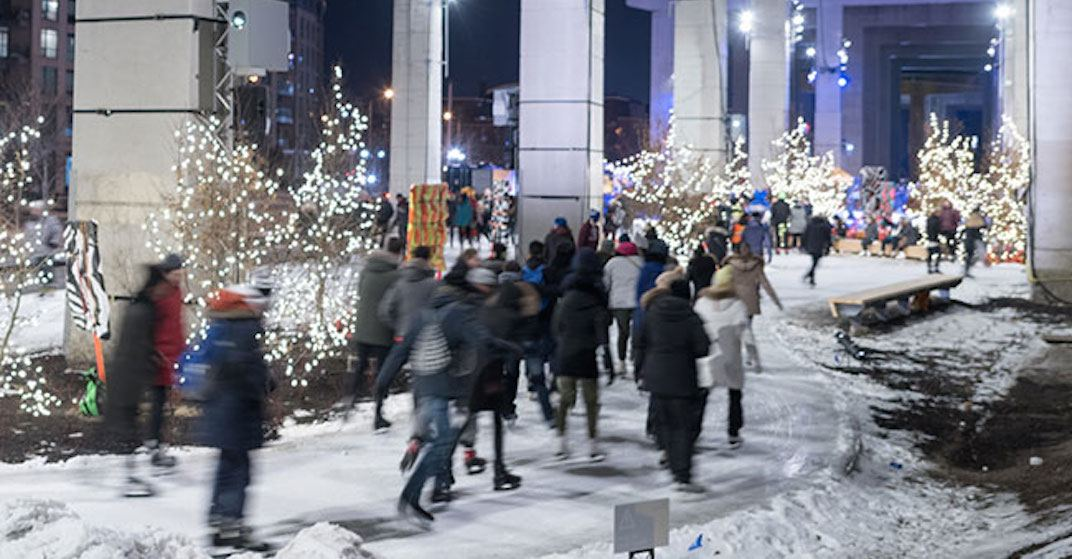 You can skate for FREE below the Gardiner Expressway this winter
