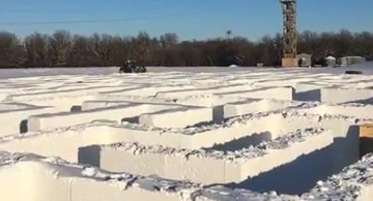 This massive Canadian snow maze is about to break the world record