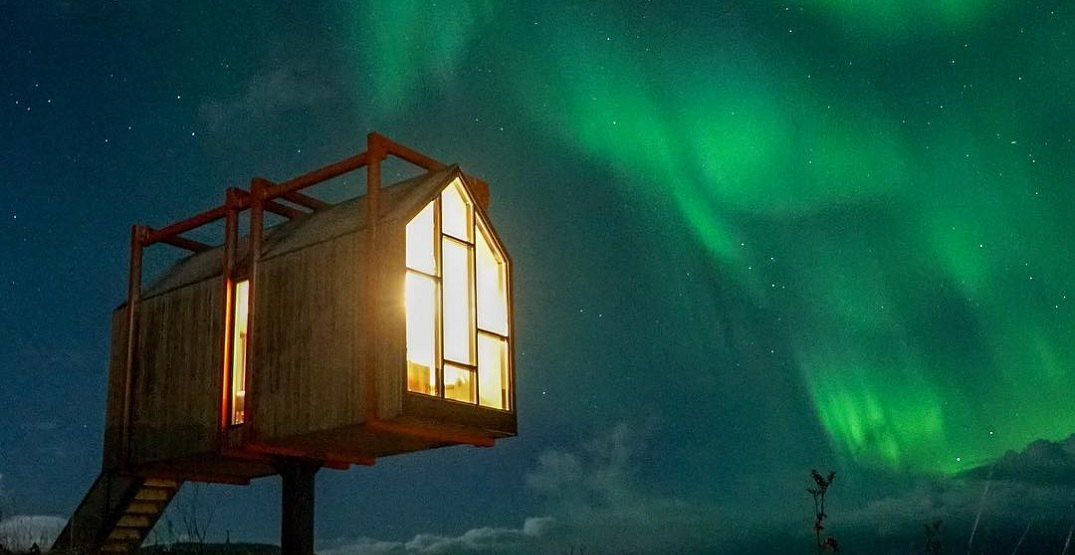 Arctic hideaway northern lights dave corn