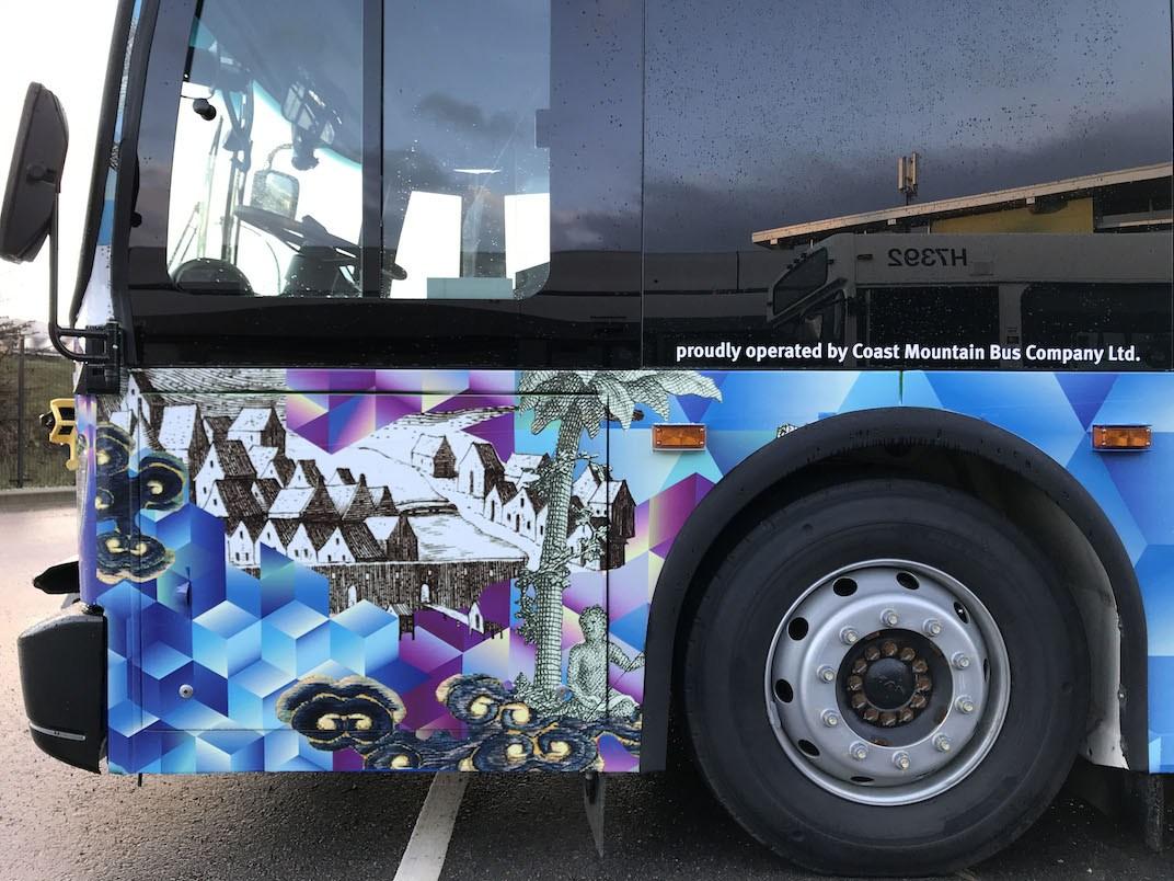 TransLink public art bus