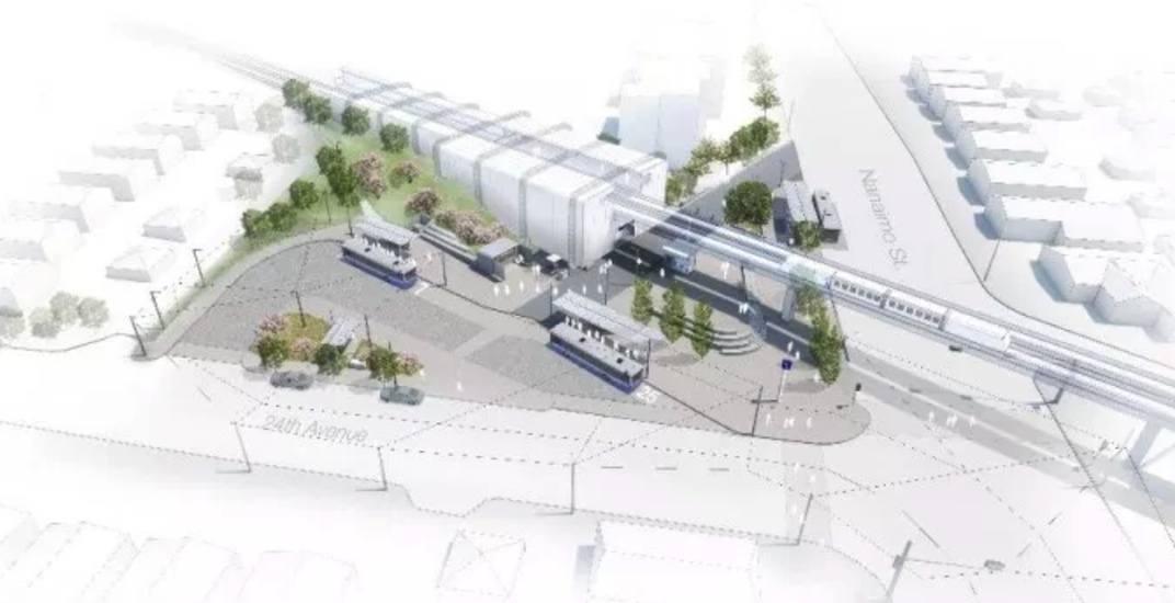 Skytrain nanaimo station bus exchange rendering