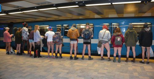 No Pants metro ride