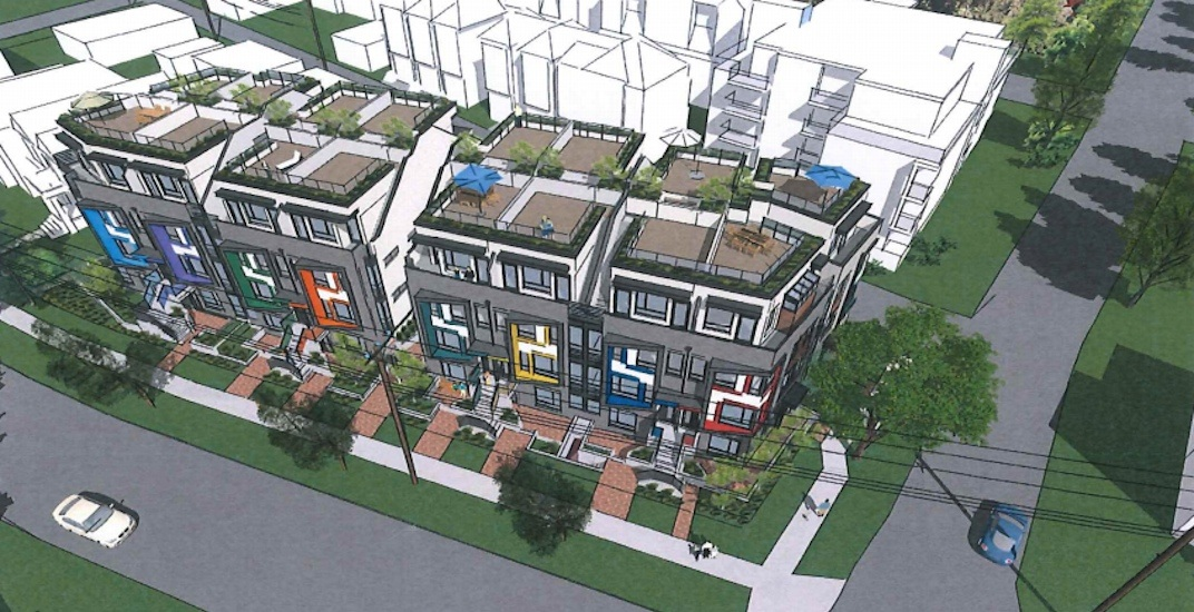 Colourful townhouses proposed for South Vancouver