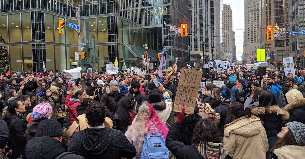 Toronto rallies to support BC Indigenous pipeline demonstrators (PHOTOS)