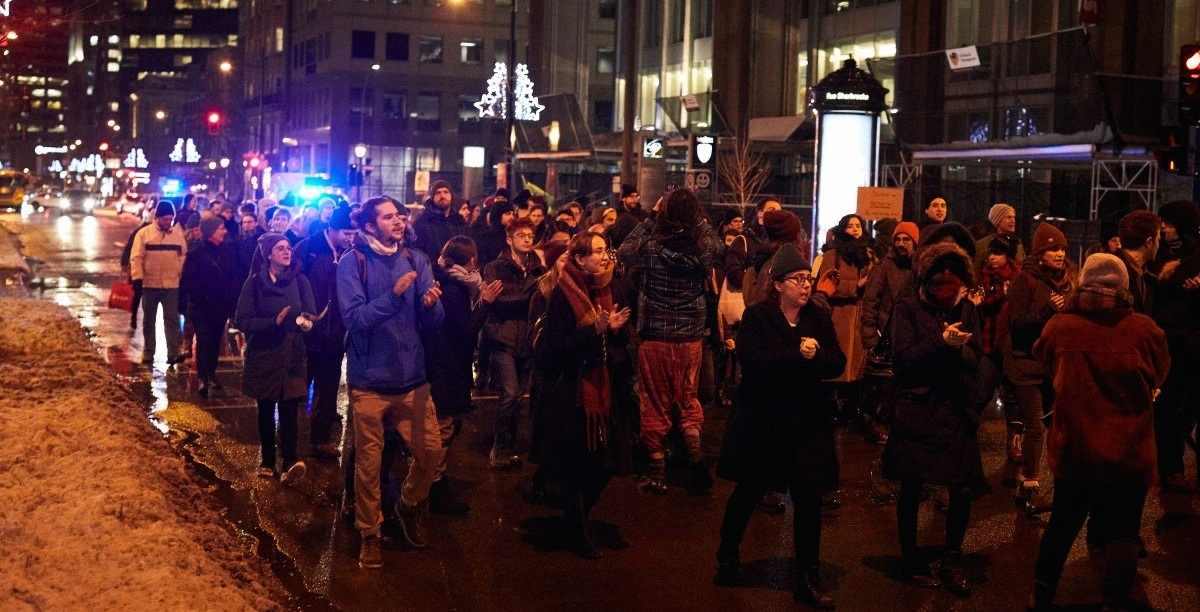 Pipeline protestors took over the streets of Montreal last night (PHOTOS)