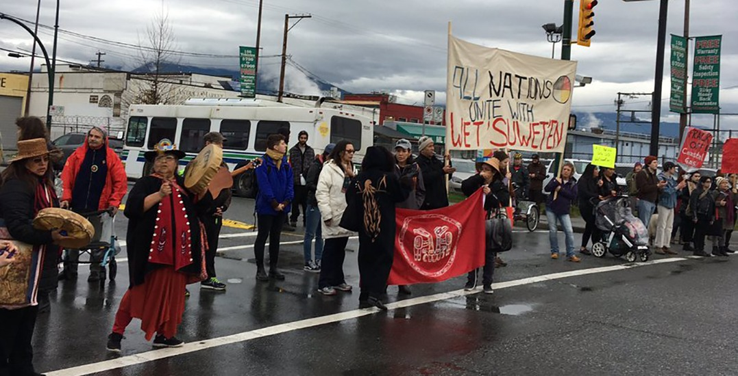 Pipeline protests blocking traffic on key route into downtown Vancouver (PHOTOS)