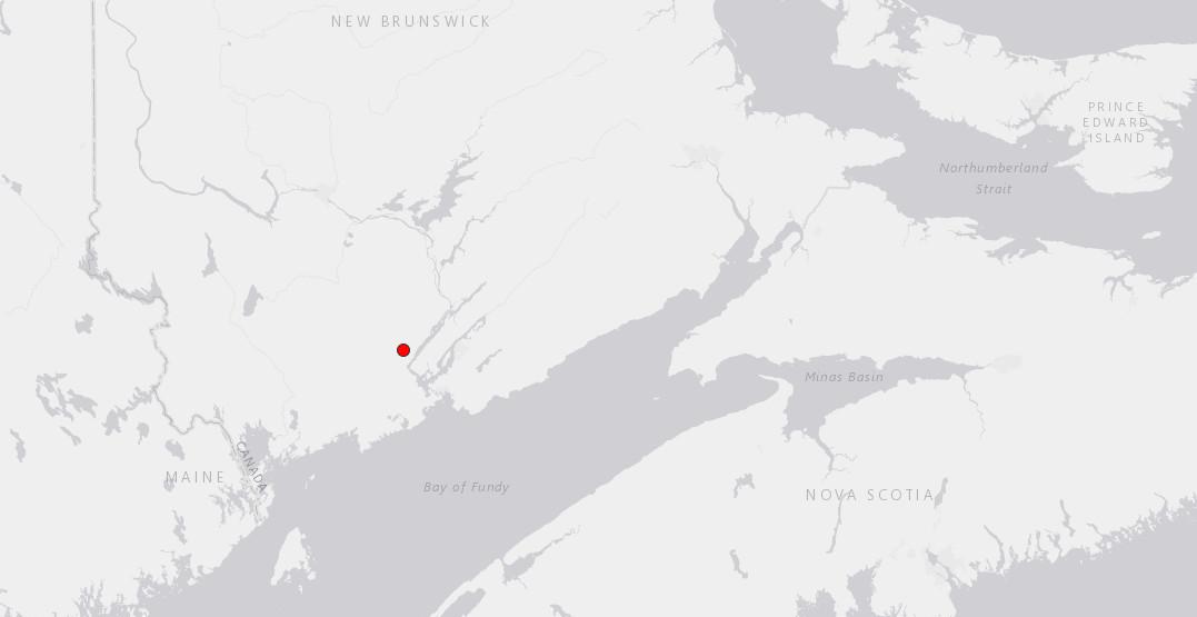 Magnitude 3.8 earthquake strikes southern New Brunswick