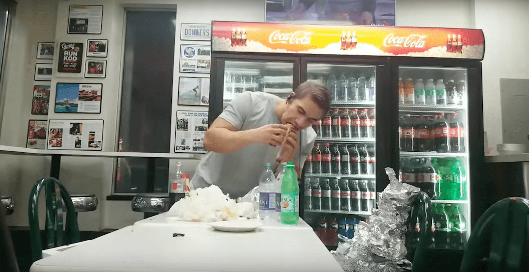 Canadian model crushes 19 donairs in a single hour (VIDEO)