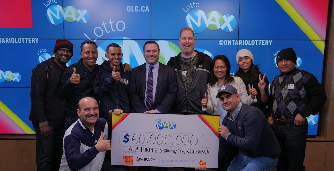 Group of 9 Ontario factory workers win the $60 million Lotto Max