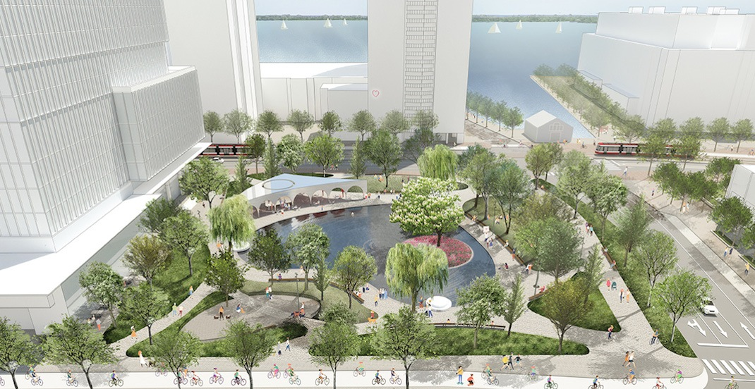 Toronto's newest waterfront park will have a heart-shaped pond (RENDERINGS)