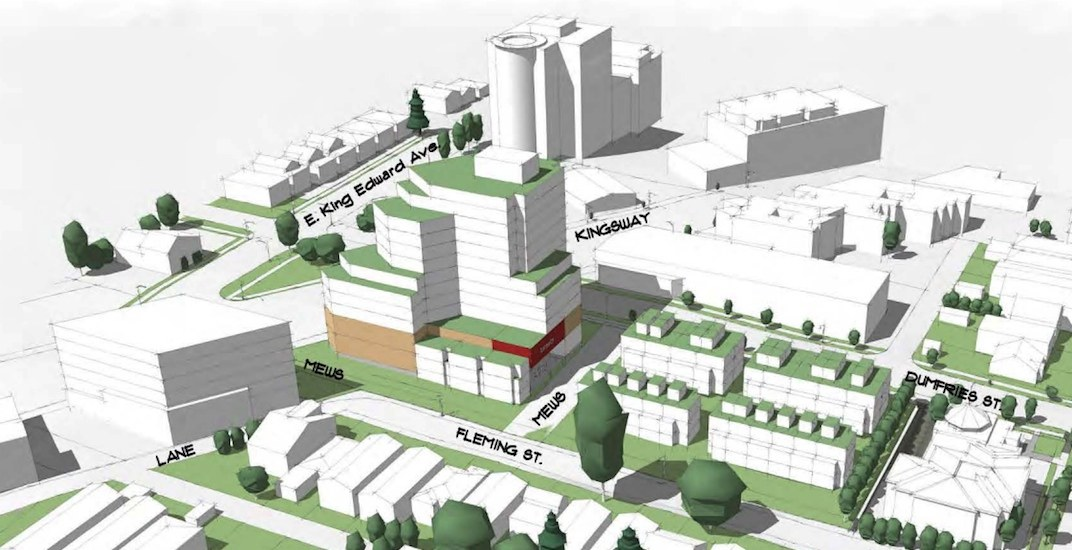 City staff deem 16-storey tower proposal for Kingsway Rona site 'too tall'