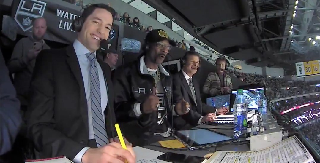 Snoop Dogg puts his own spin on NHL play-by-play during live broadcast (VIDEO)