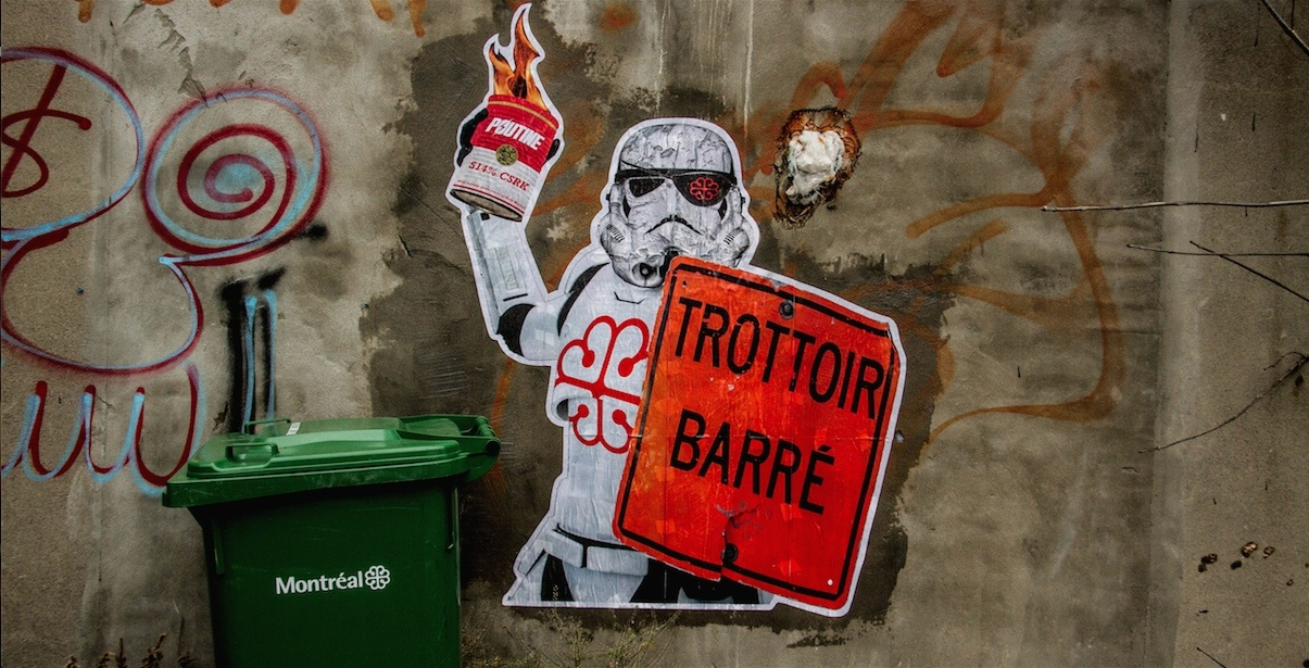 Star wars street art montreal
