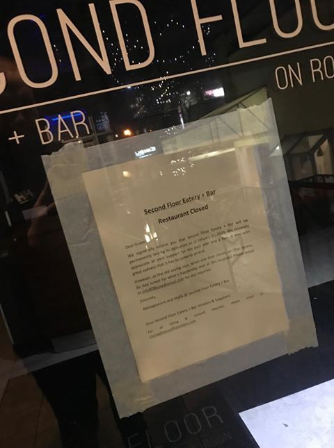 Second Floor closed