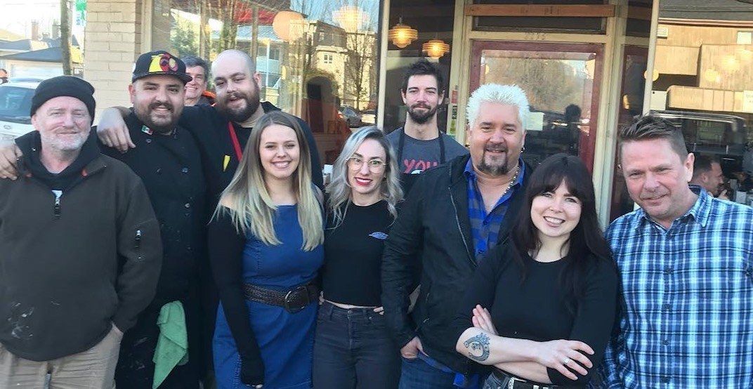 Guy Fieri spotted at much-loved diner in Vancouver