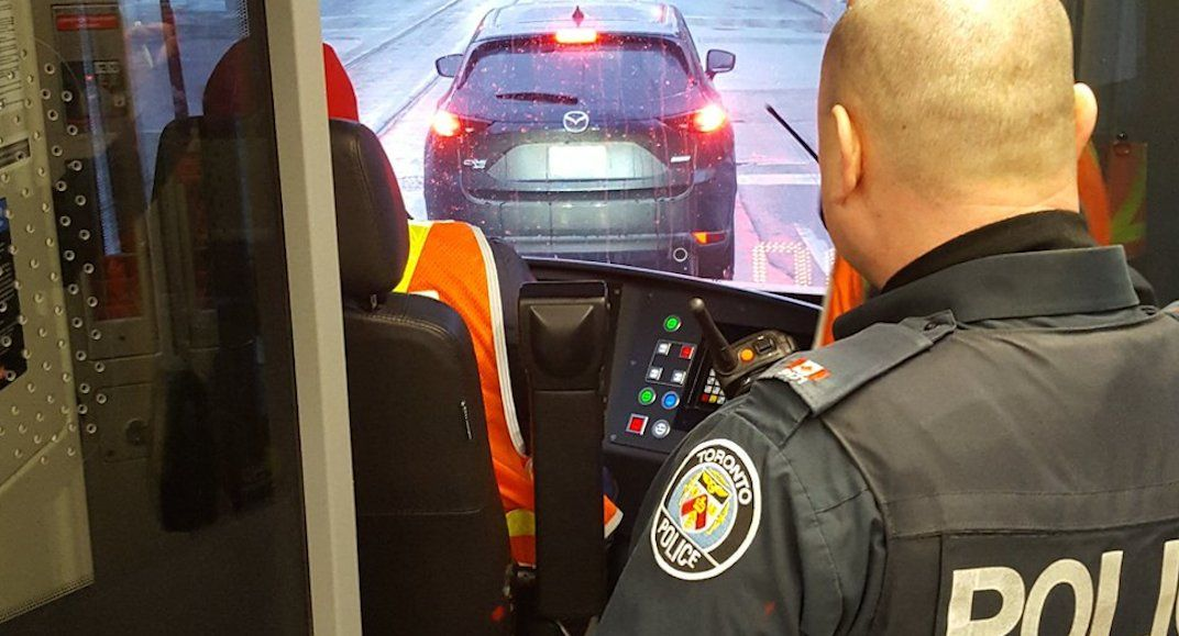 Toronto police are riding the TTC to catch distracted drivers today