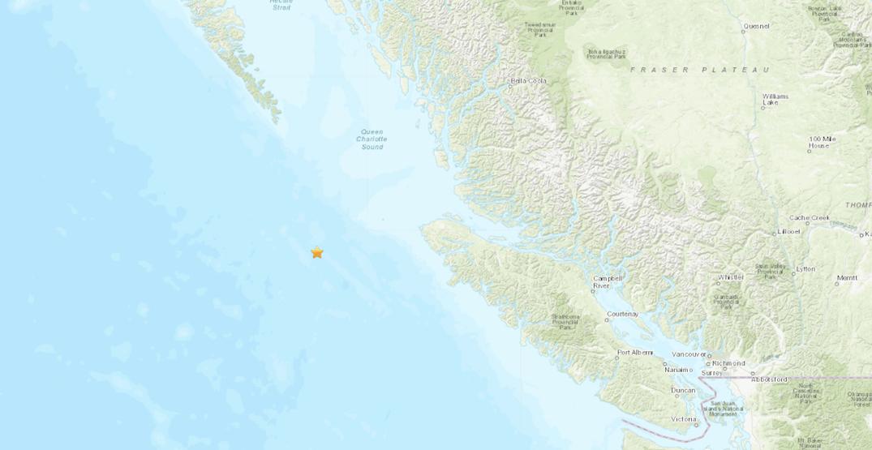 Magnitude 4.2 earthquake strikes off coast of Vancouver Island