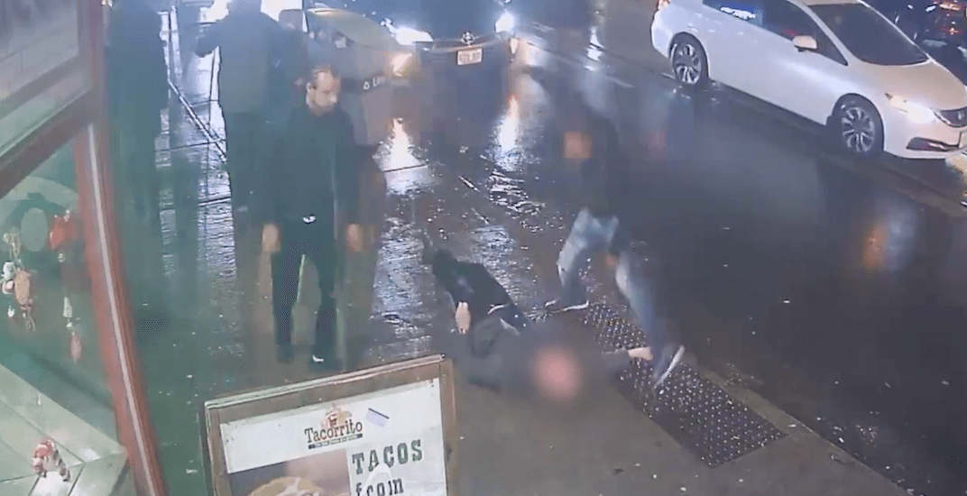 Police release shocking footage of man punched unconscious on Queen Street (VIDEO)
