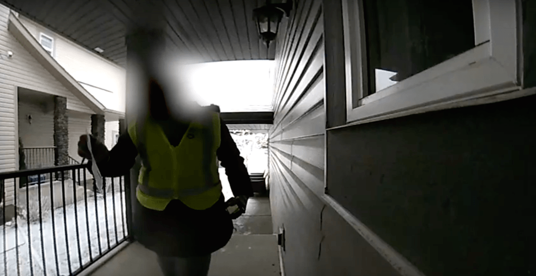 Another Canada Post worker caught not attempting to deliver package (VIDEO)