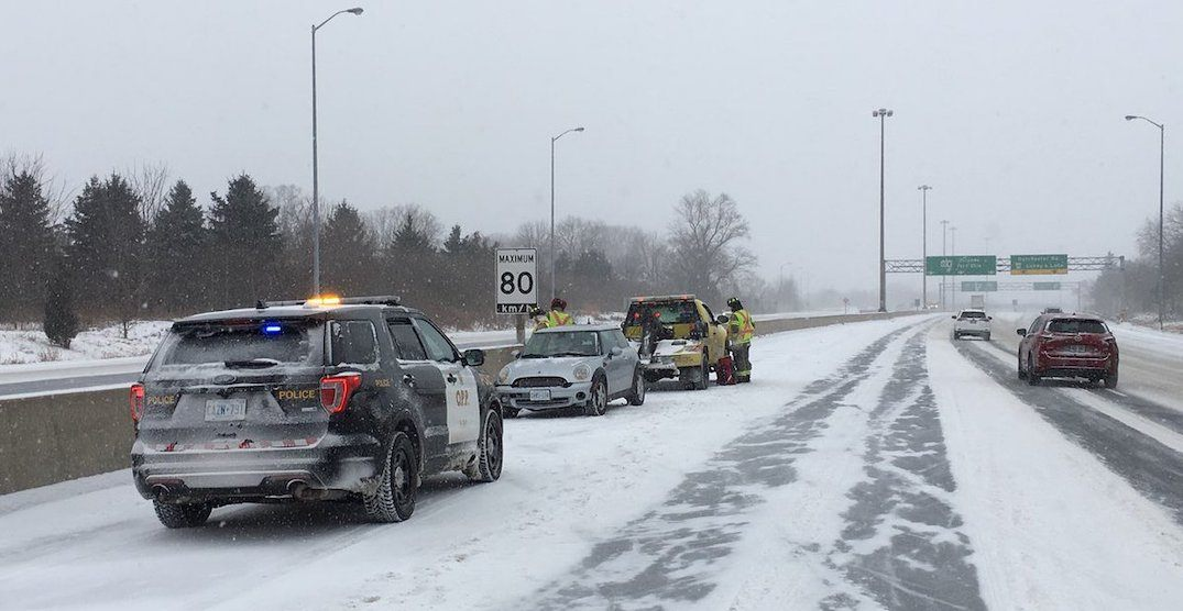 There were more than 350 collisions in the GTA over the weekend