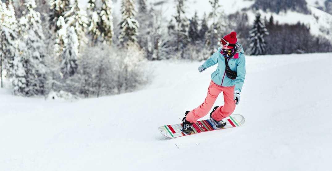 Ladies can ski and snowboard at Mt. Seymour for $15 on Mondays