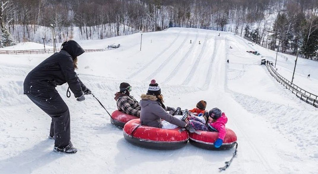 10 places to go snow tubing near Toronto