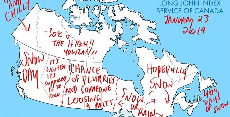 Pics Of Canada Map.The Long John Index Is All The Weather Reporting Canada Needs This