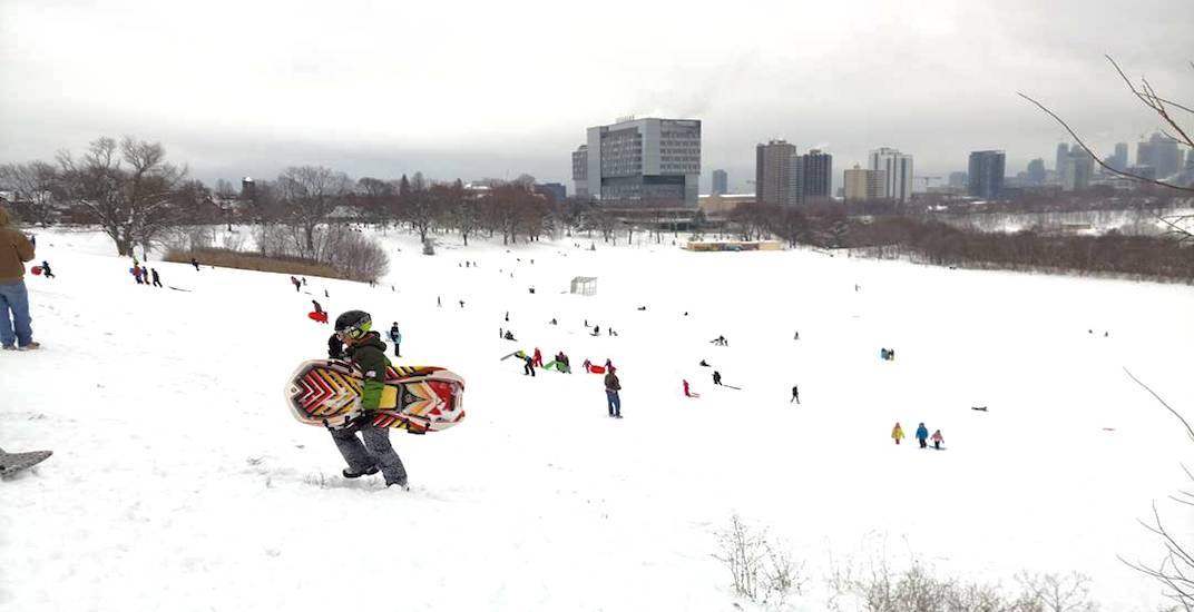 This popular Toronto tobogganing hill has been shut down