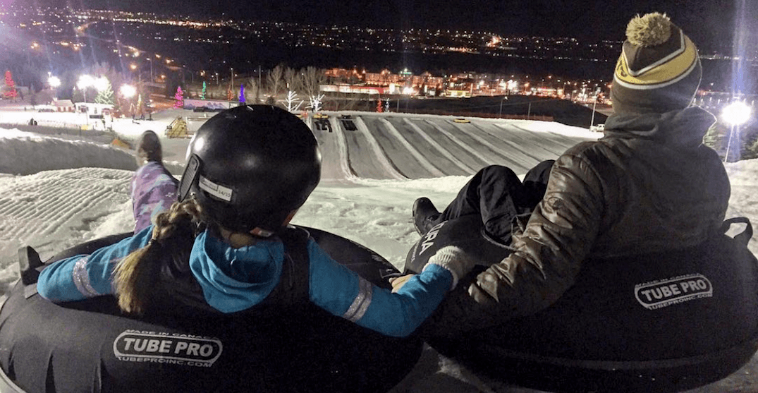 You can go night tubing at Canada Olympic Park this winter