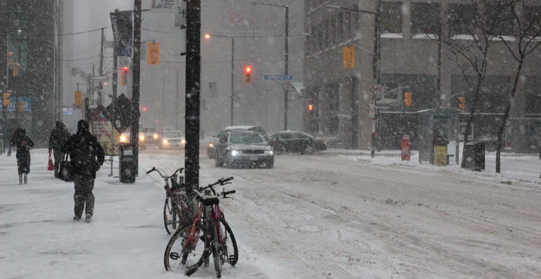 Not over yet: Up to 15 cm of snow and ice pellets still expected in Toronto tonight