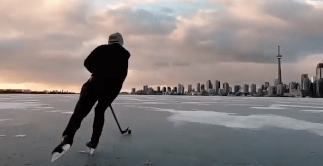 People have been skating on Toronto Harbour ice (PHOTOS)