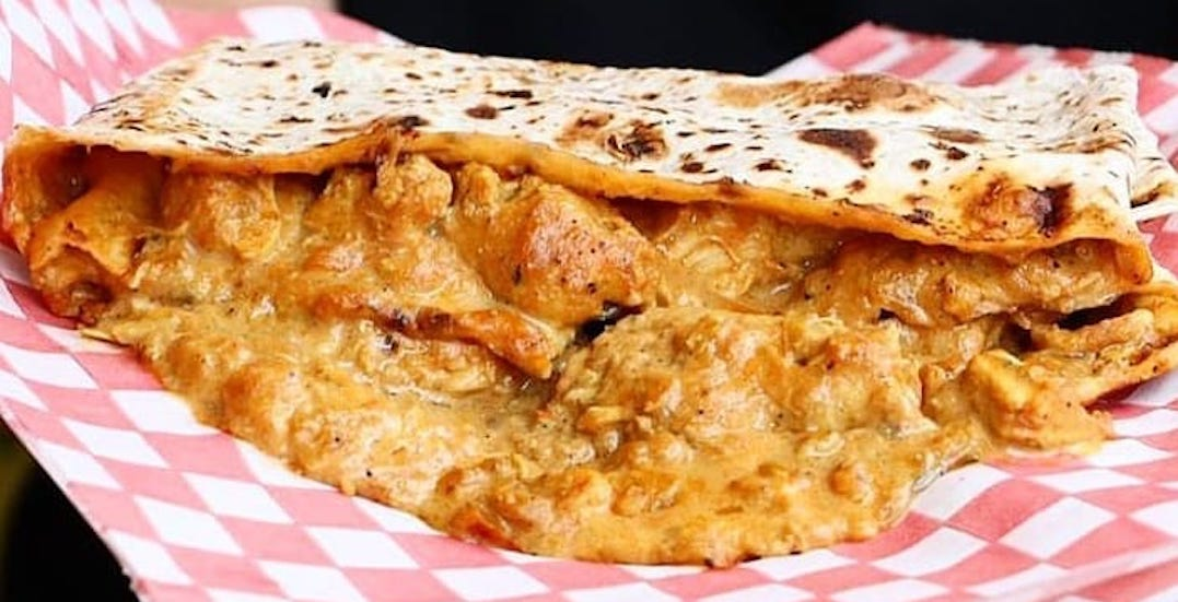 You can get FREE roti on Queen Street East this weekend