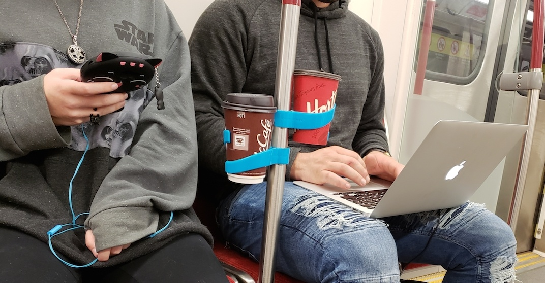 You can now get a portable cup holder for your TTC rides