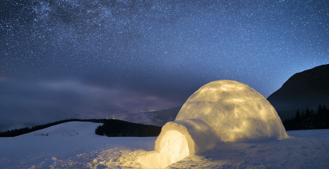 Build and sleep in your own igloo with this winter adventure near Whistler