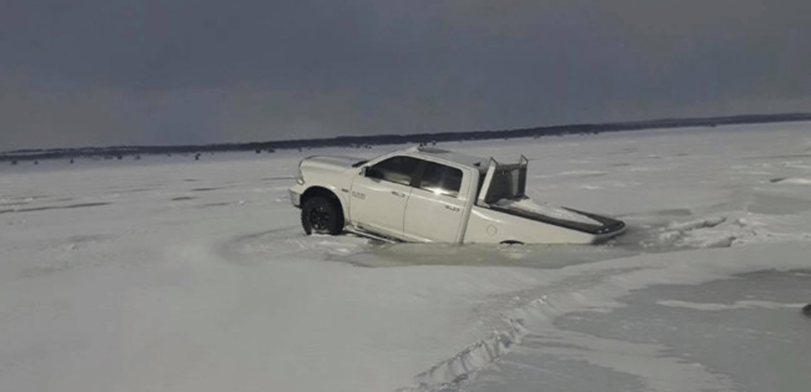 This is how much is costs to pull your truck out of Lake Simcoe in the winter (PHOTOS)