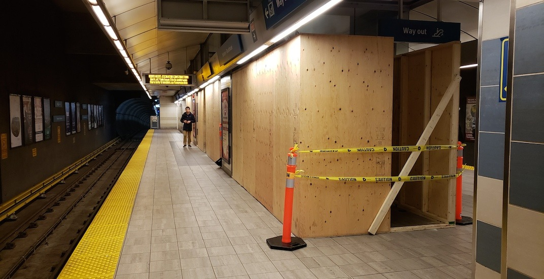 Construction begins on new escalators for all downtown Canada Line stations