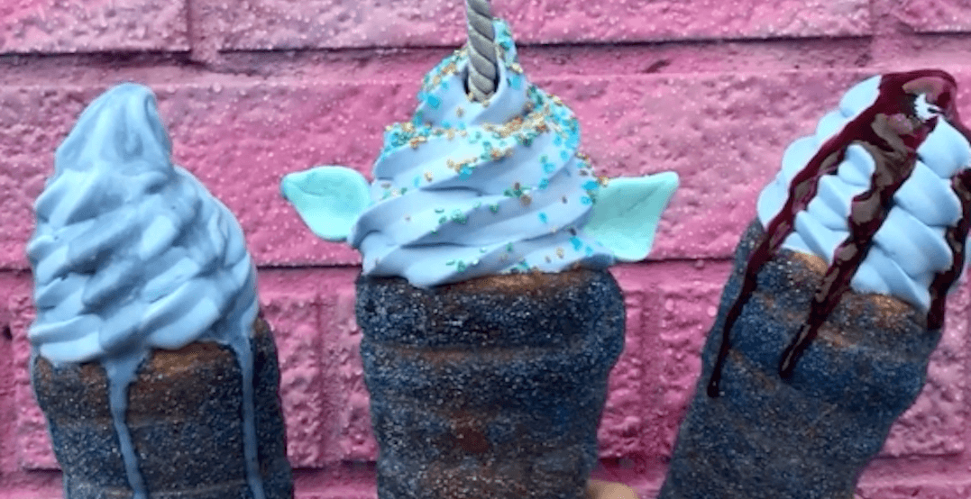 This is where you can get limited-edition blue chimney cones right now