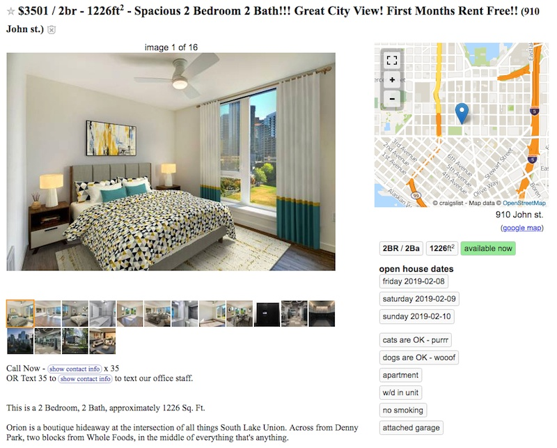 Seattle Home Listings Offering 2 000 Gift Cards And Months Of Free Rent Urbanized